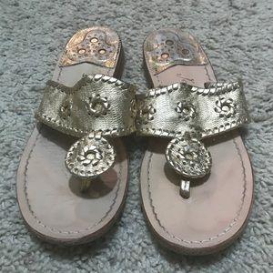 JACK ROGERS gold sandal